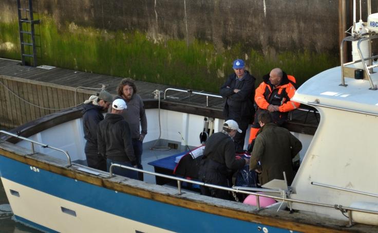 fishermen in Soverign lock