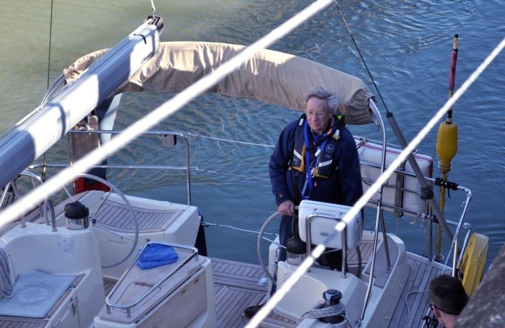 sailor boat in lock