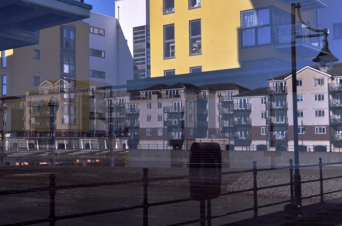 soverign harbour building reflection 3