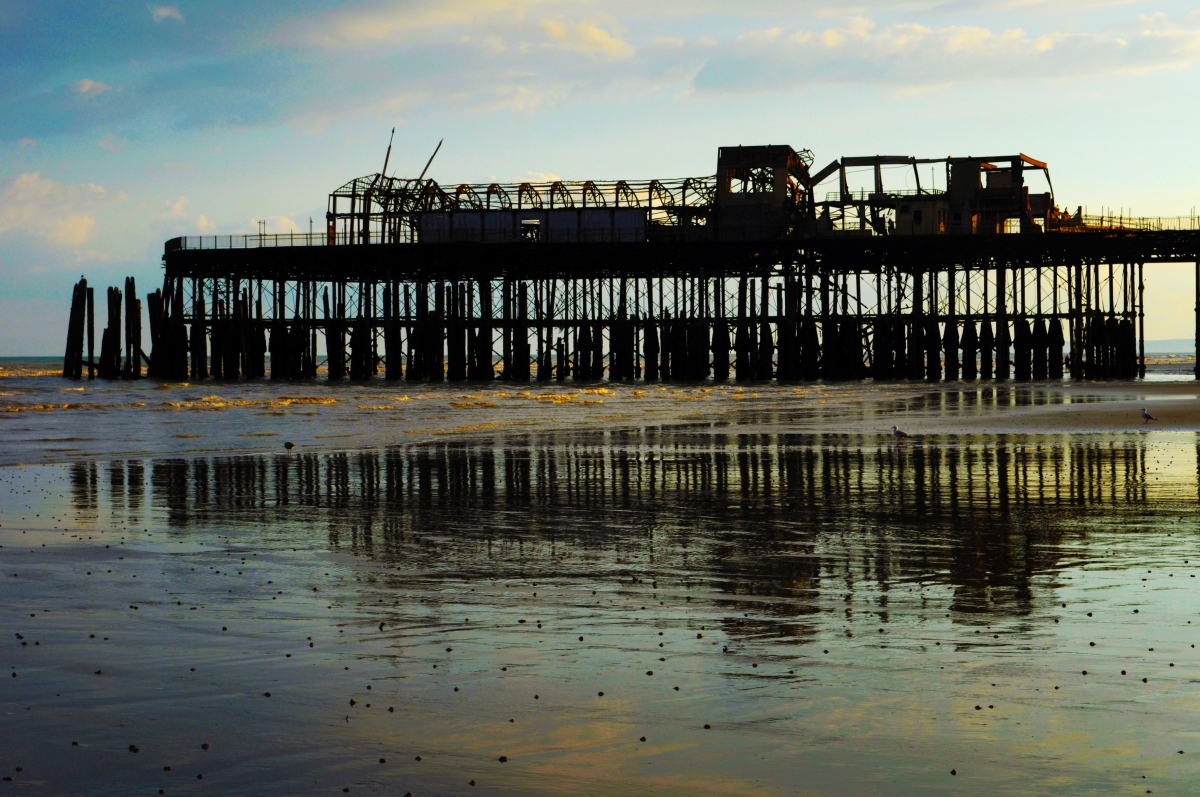 Burned out Victorian pier