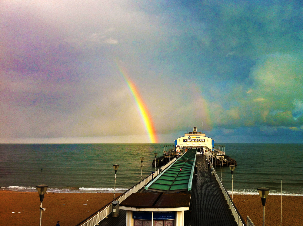 Rainbow at Pier's end.