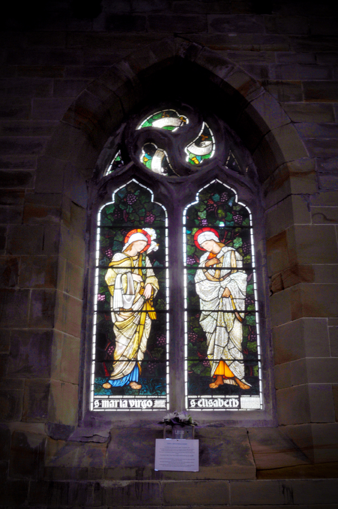 This stained glass window was designed by Edward Burne-Jones