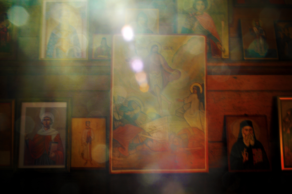 Special light effect for the religious paintings and artwork