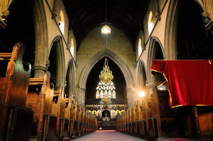 Wonderful symmetry - impressive gothic arches