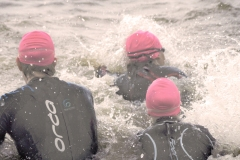 Into the fray of a triathlon swim.