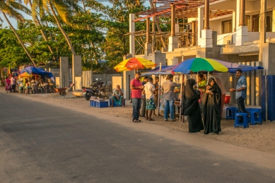 Street food enjoyed by the domestic tourists